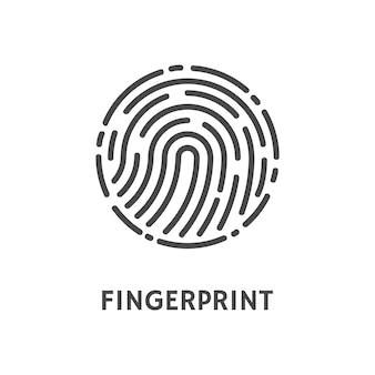 Fingerabdruck abgerundete form des drucks