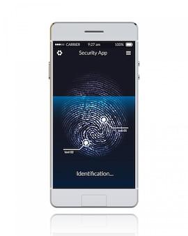 Fingerabdruck des telefons scannen