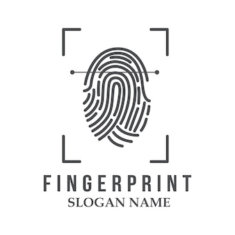 Fingerabdruck-logo-illustration-design-symbol-logo