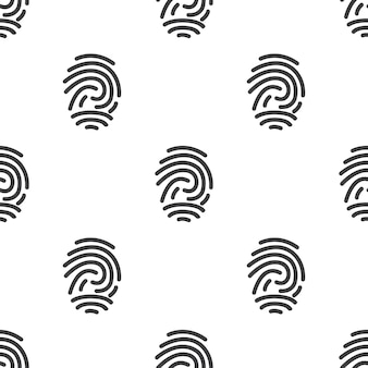Fingerabdruck, nahtloses vektormuster, bearbeitbar kann für webseitenhintergründe verwendet werden, musterfüllungen