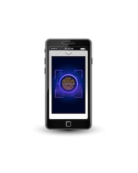 Fingerabdruck-Scan-Identifikationssystem