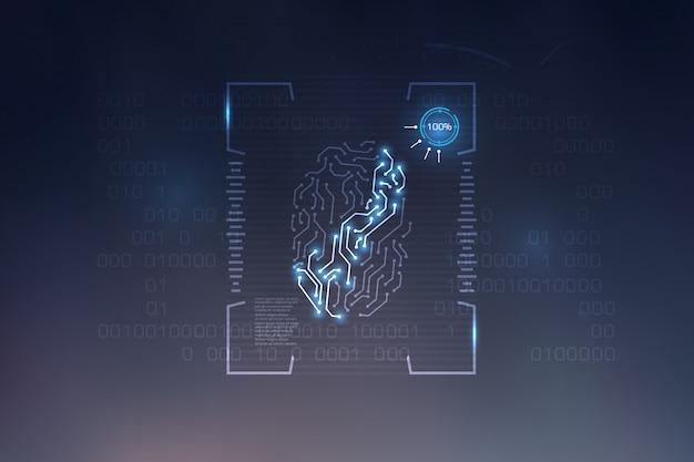 Fingerabdruck-scan-technologie hintergrund