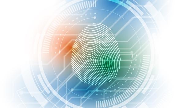 Fingerabdruckscan des digitalen cyber-sicherheitskonzepts
