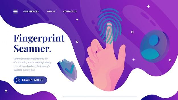 Fingerabdrucksensor-scannerillustration