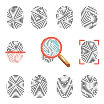 Fingerabdrücke oder fingerabdruck-identifikation