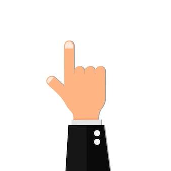 Fingerpunkt-handshow-vektor-daumenrichtung zeigt