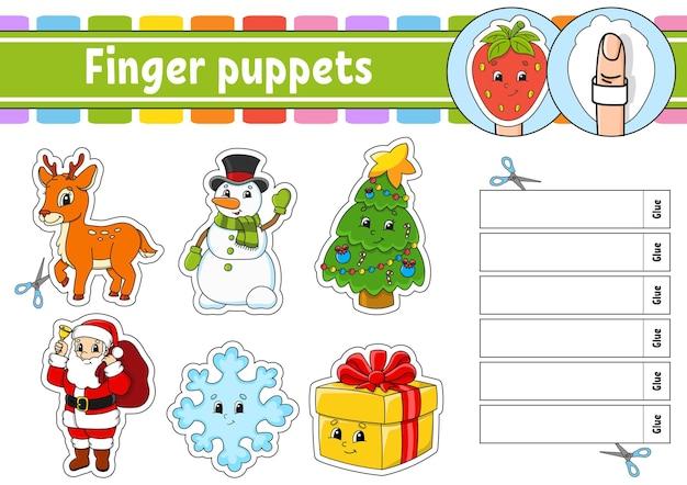 Fingerpuppen aktivitätsspiel für kinder