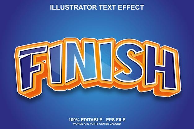 Finish texteffekt editierbar