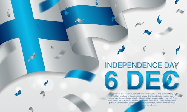 Finnischer unabhängigkeitstag am 6. dezember.