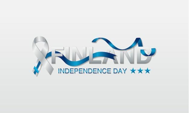 Finnland-unabhängigkeitstaggrußkarte.