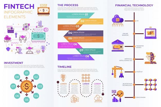 Fintech-infografik-elemente