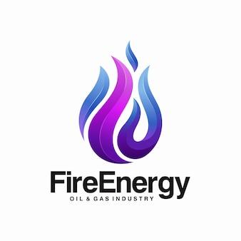 Fire flame element logo design
