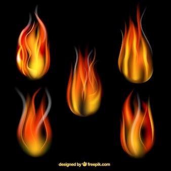 Fire flames sammlung