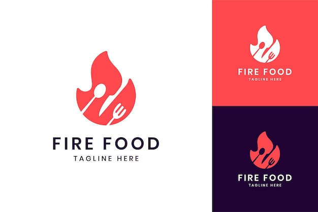 Fire food negativraum-logo-design