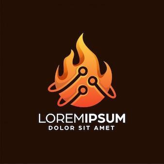 Fire technology logo design vorlage