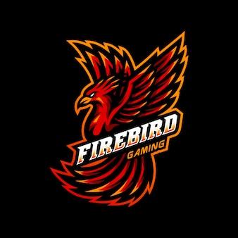 Firebird phoenix maskottchen logo esport gaming