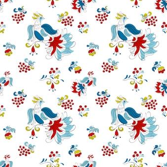 Firebird und johannisbeere im russischen stil, dunkle farbe