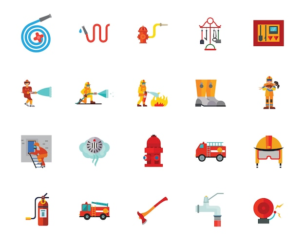 Firefighting-icon-set