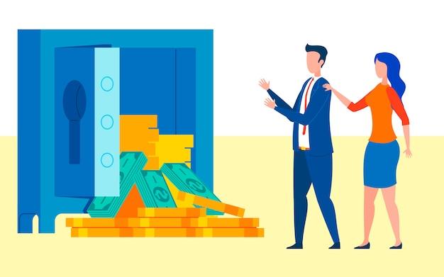 Firma, die geld grant auf entwicklungskonzept gewinnt