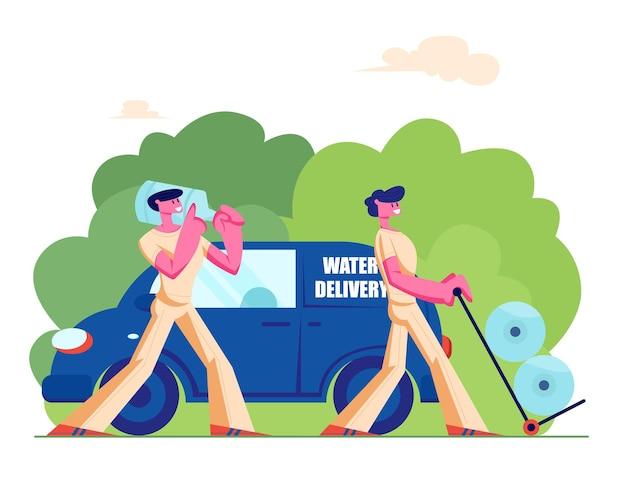 Firma für die lieferung von sauberem trinkwasser
