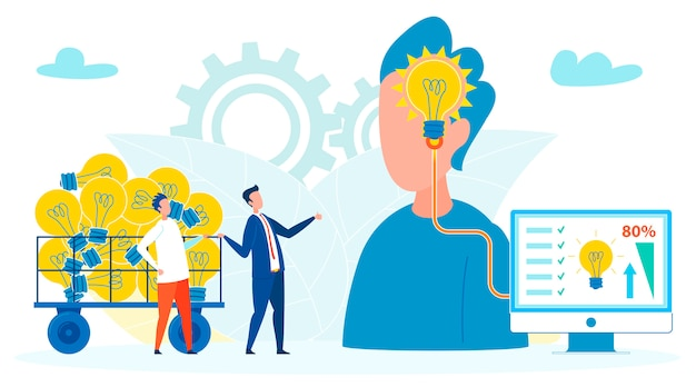 Firmen, die leute für ideen-illustration ausnutzen