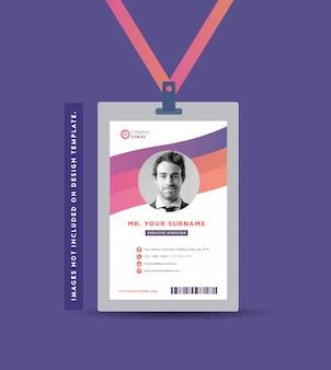 Firmenausweis design | visitenkarte und persönliches visitenkarten-design