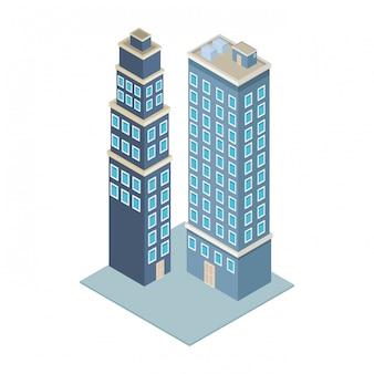 Firmengebäude isometrisch