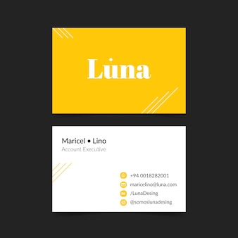 Firmenkarte im minimalistischen stil