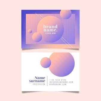 Firmenkarte mit abstrakten formen des farbverlaufs
