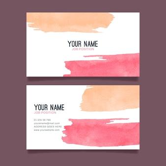 Firmenkarte mit handgemalten elementen
