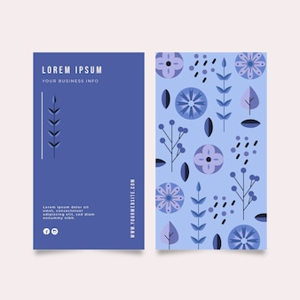 Firmenkarte mit verschiedenen pflanzen
