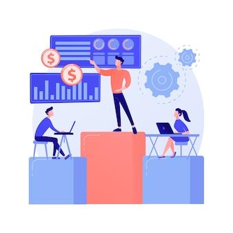 Firmenkonferenzraum. business briefing, vorstandssitzung, mentoring von top-managern. chef unterweist mitarbeiter, kollegen gespräch.