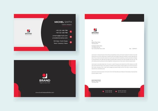 Firmenkunden-identitäts-briefpapier-set premium-vektor
