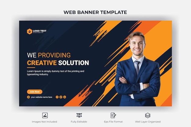 Firmenkunden-webbanner und youtube-thumbnail-vorlage