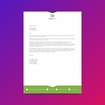 Firmenkundengeschäft briefkopf-design-vorlage