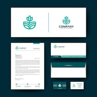 Firmenkundengeschäft briefpapier vorlage mit premium-logo.