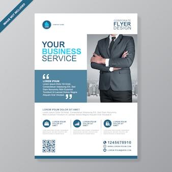 Firmenkundengeschäft decken a4 flyer vorlage