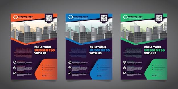 Firmenkundengeschäft flyer design-vorlage