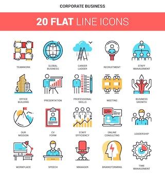 Firmenkundengeschäft icons