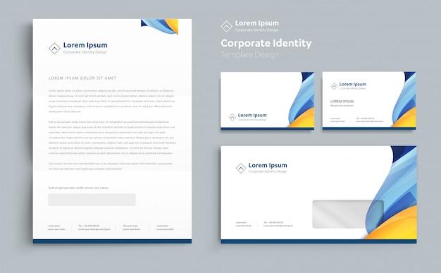 Firmenkundengeschäft-identitätsschablonendesign vektor