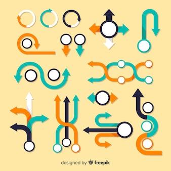 Firmenkundengeschäft infographic, zusammensetzung von infographic elementen