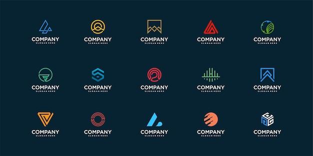 Firmenlogo-kollektion mit modernem und einzigartigem konzeptdesign