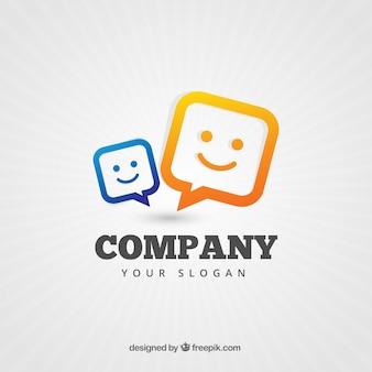 Firmenlogo mit sprechblasen