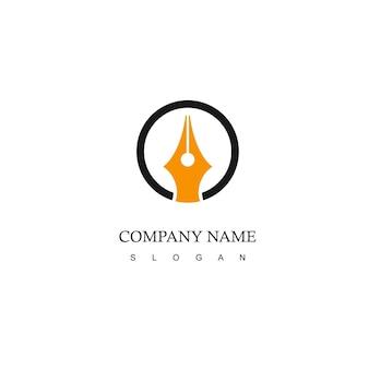 Firmenlogo mit stiftsymbol