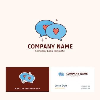 Firmenlogodesign mit namen basiert auf muttertagvektor