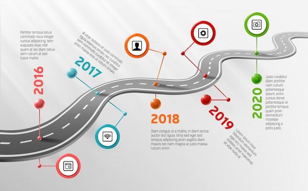 Firmenmeilenstein, geschichte timeline, business-präsentation-layout