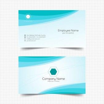 Firmennamenkarte mit blauem ornament
