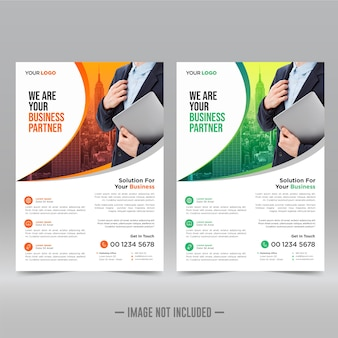 Firmenplakat, flyer-vorlage