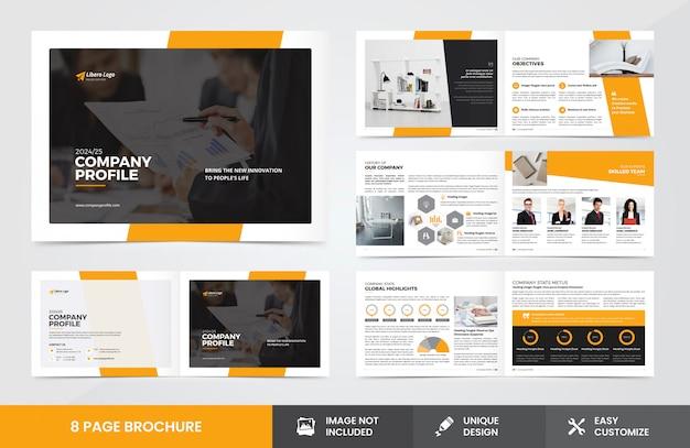Firmenprofil broschüren vorlage
