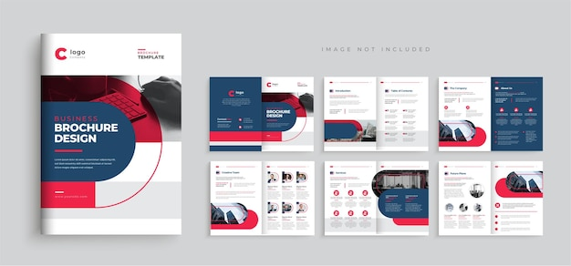 Firmenprofil-broschüren-vorlagen-layout-design mehrseitiges business-broschüren-vorlagendesign